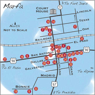 Marfa List of Galleries